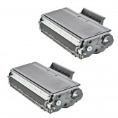 Compatible Brother TN650 Set of 2 Black Laser Toner Cartridges - 16000 Page Yield