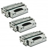 3 HP Compatible CE505X High Yield Toners - 19500 Page Yield