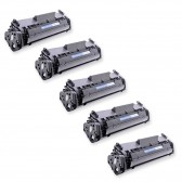 Compatible Canon 104 (FX9/FX10) Set of 5 Black Laser Toner Cartridges - 10000 Page Yield