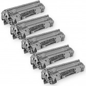 Compatible HP CE278A - (HP 78A) (Set of 5-Pack) Black Laser Toner Cartridge - 10500 Page Yield