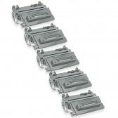 Compatible HP Set of 5 Black 64A / CC364A Laser Toner Cartridges - 50000 Page Yield