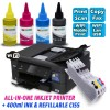 INKfinite Continuous Ink Printer Bundle for Brother All-in-One Color Inkjet Printer