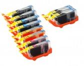 Canon PGI225 & CLI226 Compatible Set of 10 Ink Cartridges: 2 Pigment Black PGI-225, 2 each of CLI-226 B/C/M/Y