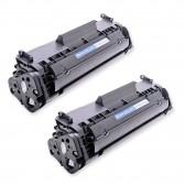 Compatible Canon 104 (FX9/FX10) Set of 2 Black Laser Toner Cartridges - 4000 Page Yield