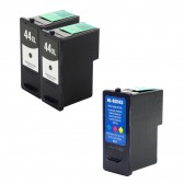 Compatible Lexmark 18Y0144(#44XL) and 18Y0143 (#43XL) Set of 3 Ink Cartridges: Includes 2 Black and 1 Color Cartridges