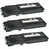 3PK Compatible Dell 593-BBBU High Yield Black Toner Cartridge for Color Laser C2665dnf, C2660dn