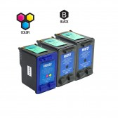 Compatible HP C8727AN HP 27 and C9352AN HP 22 Set of 3 Ink Cartridges: Includes 2 Black and 1 Color Cartridge