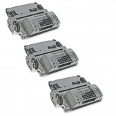 Compatible HP Set of 3 Black 64X / CC364X High Yield Laser Toner Cartridges - 72000 Page Yield