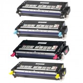 Pack of 4 Toner Cartridges for Dell 3110CN/3115CN Printers (Compatible)