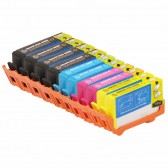 Replacement HP 564XL Set of 10 Inkjet Cartridges: 4 Black CN684WN, 2 Cyan CB323WN, 2 Magenta CB324WN, 2 Yellow CB325WN
