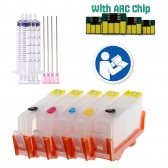 Empty 5 Pack Refillable Ink Cartridges for HP 564 HP564XL with Auto Reset Chips