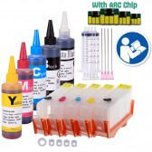 5 Pack Refillable Ink Cartridges for HP 564XL HP564 with Auto Reset Chips + 500ml Ink