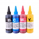 4x100ml Premium Pigmented ink for EPSON 125 T125 using Durabrite ink CIS/CISS and refillable cartridge
