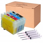4 Refillable Cartridges for EPSON 288 T288 T288XL USA pigment ink Expression XP-330 Expression XP-430 Expression XP-434
