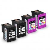 4 Pack Hp Deskjet 3730, 2 Black And 2 Tri-Color High Yield Ink Cartridges