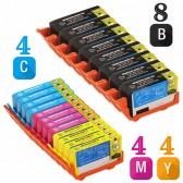 Replacement HP 920XL Set of 20 Inkjet Cartridges: 8 Black CD975AN, 4 Cyan  CD972AN, 4 Magenta CD973AN, 4 Yellow CD974AN