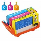 Replacement HP 920XL Set of 3 Inkjet Cartridges: 1 Cyan  CD972AN, 1 Magenta CD973AN, 1 Yellow CD974AN