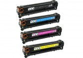 Replacement Set for Canon 118 Bk, 118 C, 118 Y, 118 M Toner Cartridges