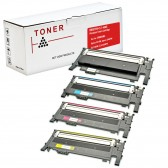 Compatible Toner Cartridge Replacement For Samsung CLT-K406S CLT-C406S CLT-M406S CLT-Y406S (1 Black, 1 Cyan, 1 Magenta, 1 Yellow) 4 Pack