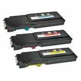 Dell C2660dn, C2665dnf Series Compatible High Yield Toner Cartridge - 1 Cyan, 1 Yellow, 1 Magenta