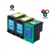 Compatible HP C8765WN (HP 94) and C8766WN (HP 95) Set of 3 Ink Cartridges: Includes 2 Black and 1 Color Cartridge