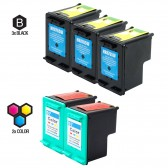 Compatible HP C8765WN (HP 94) and C9363WN (HP 97) Set of 5 Ink Cartridges: Includes 3 Black and 2 Color Cartridge