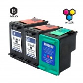 Compatible HP C9364WN (HP 98) and C9361WN (HP 93) Set of 3 Ink Cartridges: Includes 2 Black and 1 Color Cartridge
