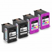 Replacement Hewlett Packard HP 63XL F6U64AN F6U63AN (2 Black, 2 Tri-Color) High Yield Ink Cartridges