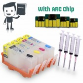 4 Refillable (Empty) Cartridges for HP 920, HP 920XL, Auto Reset Chips (ARC)