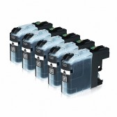 J885DW INKUTEN 3 Blacks LC201BK LC203BK Compatible Ink Cartridges for Brother LC201 LC203 J480DW J880DW 3 Black for Multifunction Printers MFC-J460DW J485DW J680DW