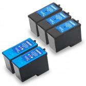 Lexmark 18C1974 (#4) and 18C1960 (#5) Set of 3 Black & 2 Color Ink Cartridges