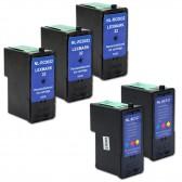 5 Pack Lexmark 32 18C0032 & Lexmark 33 18C0033 Compatible Combo Pack - 3 Black & 2 Color Ink Cartridges