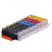 Compatible Canon PGI-270XL & CLI-271XL: 2 Large Black, 2 Small Black, 2 Cyan, 2 Yellow, 2 Magenta, 10-Pack