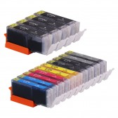 Compatible Canon PGI270XL & CLI271XL: 4 Large Black, 2 Small Black, 2 Cyan, 2 Yellow, 2 Magenta, 2 Gray, 14-Pack