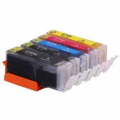 Compatible Canon PGI-270XL & CLI-271XL: 1 Large Black, 1 Small Black, 1 Cyan, 1 Yellow, 1 Magenta, 5-Pack
