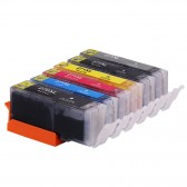 Compatible Canon PGI270XL & CLI271XL: 1 Large Black, 1 Small Black, 1 Cyan, 1 Yellow, 1 Magenta, 1 Gray, 6-Pack