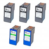Inkjet Supplies for Lexmark Printers - Replacement Set of 5 Ink Cartridges 3 Black Lexmark 36XL (18C2170) and 2 Color Lexmark 37XL (18C2180)