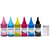 Ink refill set for Epson Artisan 50, Epson Stylus Photo R260, R280, R380, RX580, RX595, RX680 Printer T0781-6 CISS Refillable Cartridges - Made in the USA