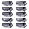 Compatible Canon 104 (FX9/FX10) Set of 10 Black Laser Toner Cartridges - 20000 Page Yield