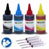 4x 100ml Premium Refill Kit with syringes for Lexmark 28 and 29 (18C1528,18C1529) Black and Color Ink Cartridges