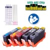 5 Pack Refillable Ink Cartridges for HP 564 HP564XL with Auto Reset Chips