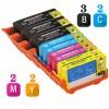 Replacement HP 920XL Set of 9 Inkjet Cartridges: 3 Black CD975AN, 2 Cyan  CD972AN, 2 Magenta CD973AN, 2 Yellow CD974AN