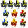 Brother Compatible LC41 Set of 10 Ink Cartridges: 4 Black & 2 each of Yellow / Cyan / Magenta.
