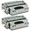 2 HP Compatible CE505X High Yield Toners - 13000 Page Yield